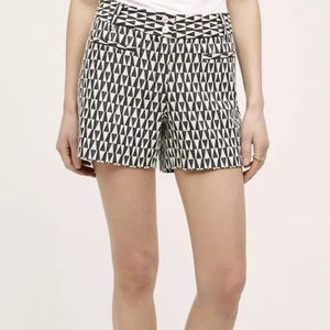 Anthropologie Cartonnier Triangle Print Shorts